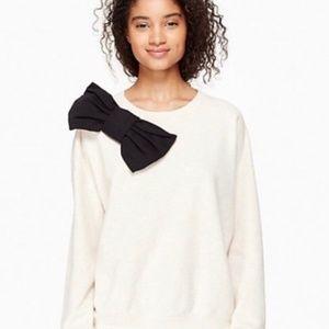 kate spade black bow cream sweatshirt